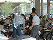 バイク展示会場